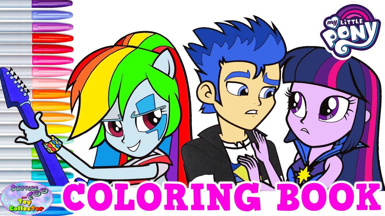 My Little Pony Equestria Girls Coloring Book Rainbow Dash Surprise