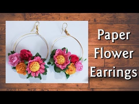 Easy Paper Flower Earrings | New Design | Go Handmade