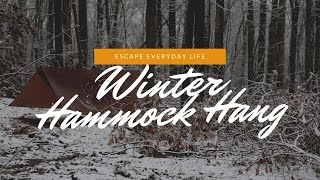 Winter Hammock Camping Trip: Underquilts, Drinking Beers, and Camping in the Snow