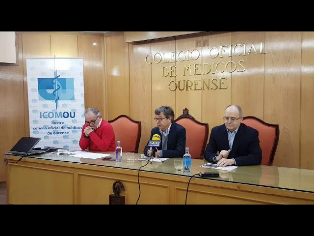Presentación do foro de bioética no Colexio de Médicos de Ourense