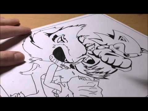 Speed Drawing: Sonic vs Sonic exe