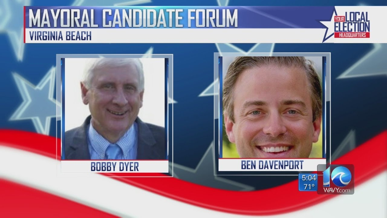 Va  Beach mayoral candidates take part in debate forum