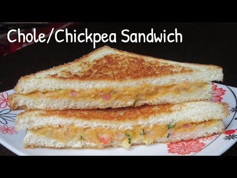 Chole/Chickpea sandwich Recipe | Chana Sandwich | Easy & Quick Sandwich | Healthy Sandwich