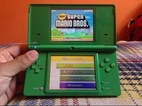 Jugando Mario Bros En Nintendo Ds Youtube