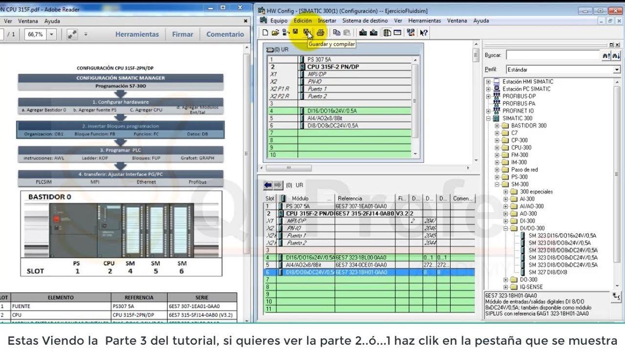 HOW TO CONFIGURE PLC SIEMENS: CPU 315 2F PN DP Part 3