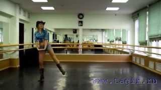 Видео уроки танца живота: Ковбойский танец (5 часть  лицом)