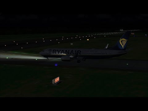 London Gatwick to Belfast International PMDG 737-800 Ryanair FSX Steam
