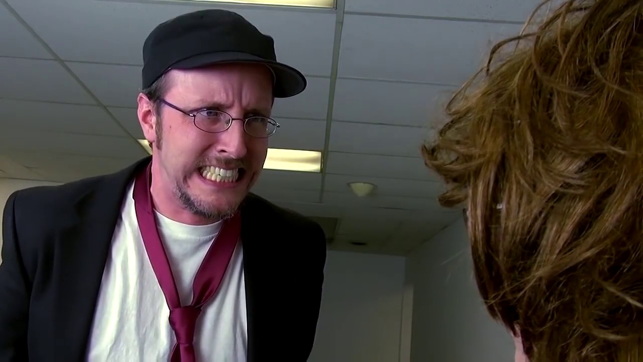Nostalgia Critic Yells At Hyper Fangirl - YouTube