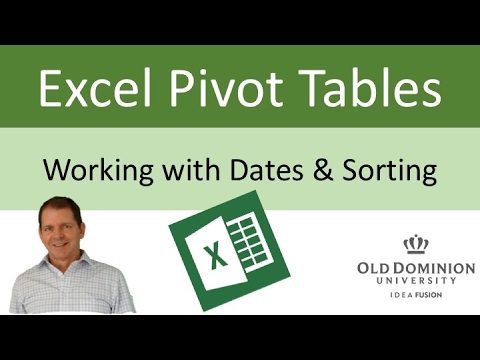 Excel Pivot Tables - Working With Dates And Sorting
