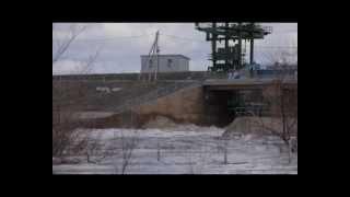 Разлив реки Самара на сорочинском водохранилище....