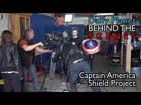 Captain America Shield -- BEHIND THE SCENES on the Daily Planet