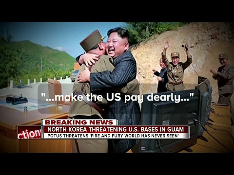North Korea threatening U.S. bases in Guam