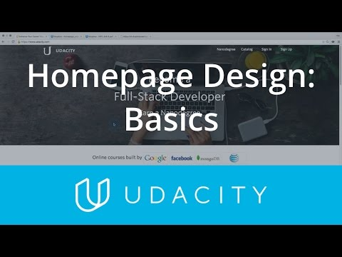 Homepage Design | UX/UI Design | Product Design | Udacity