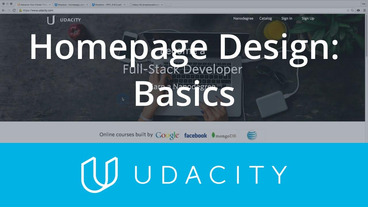 Homepage Design | UX/UI Design | Product Design | Udacity - YouTube