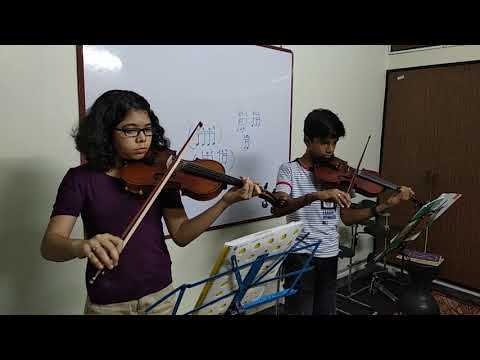 Indian National Anthem in Violin duet, Pavo school of music Thiruvanmiyur students