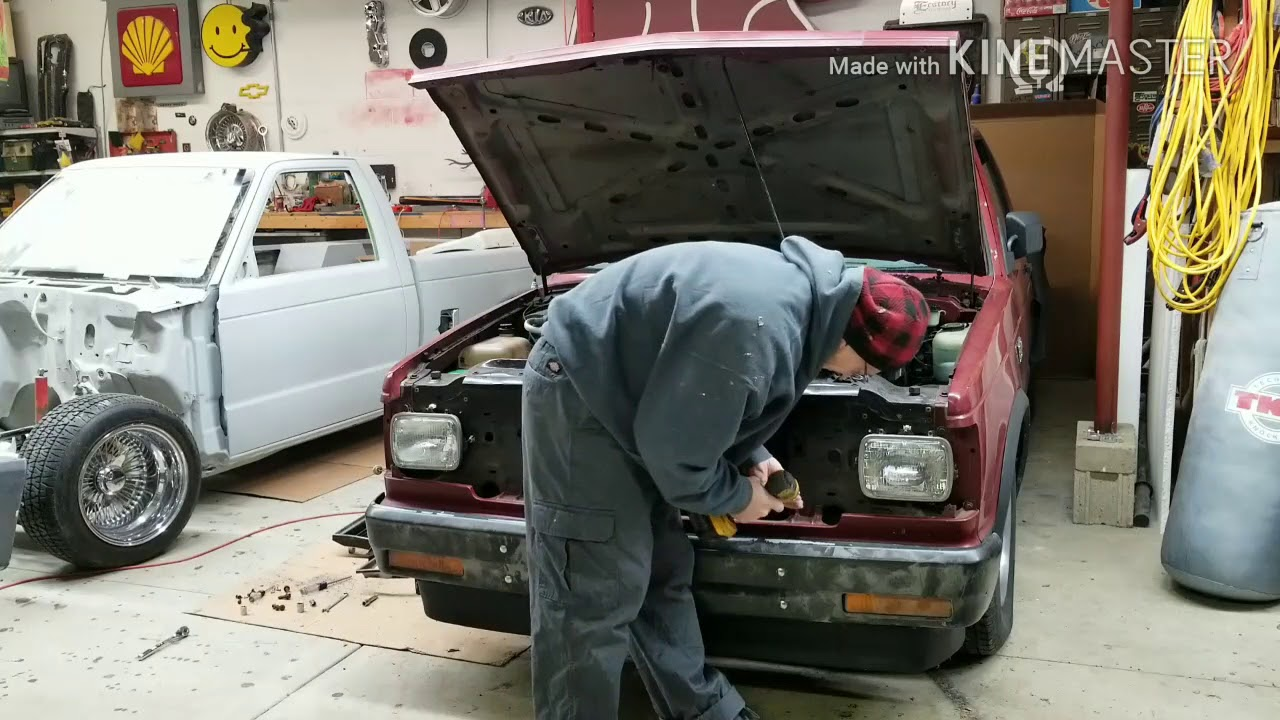 Chevy s10 front end swap part 2