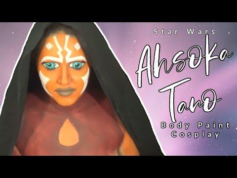 Star Wars: Ahsoka Tano Makeup and Body Paint Cosplay Tutorial (NoBlandMakeup)