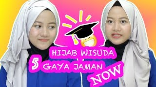5 Gaya Hijab Wisuda Simpel Jaman Now (Simple Graduation Hijab)#NMY Hijab Tutorials