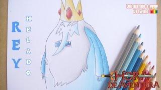 How To Draw Ice King   Como Dibujar Al Rey Helado   Paso a Paso   Hora de Aventura
