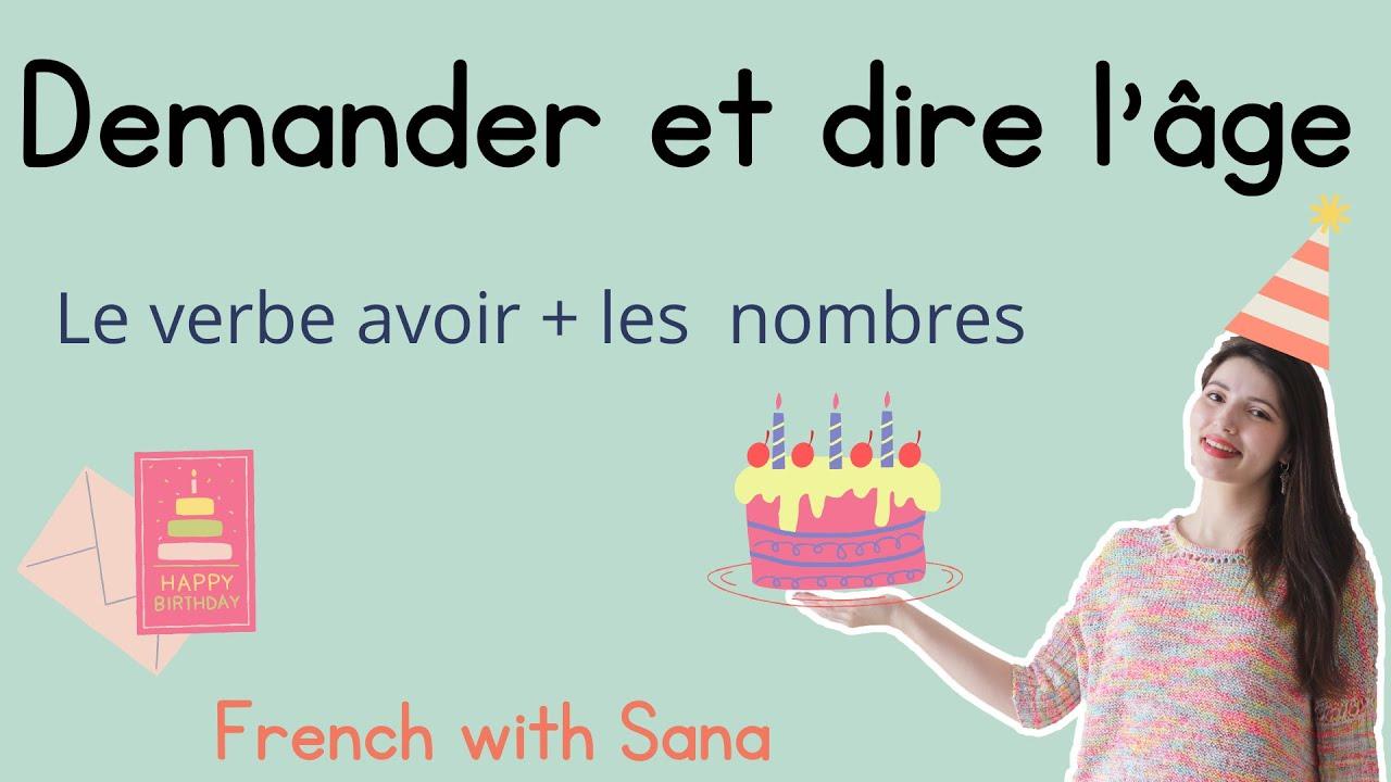 Download French for beginners : Dire et demander l'âge en français