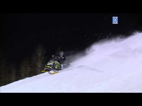 Winter X Games 2012: First Snowmobile Front Flip (Slow Motion)