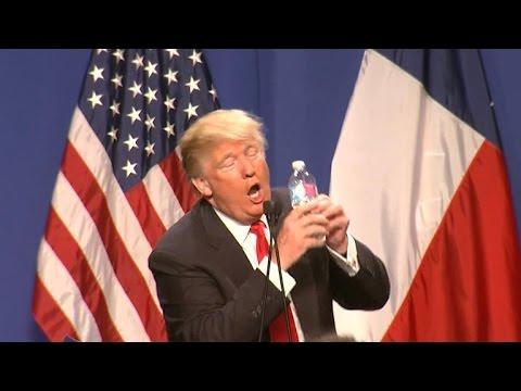 Donald Trump mocks Marco Rubio's 2013 water bottle gaffe