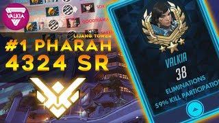 [ Overwatch ] Rank #1 Pharah : 59% Kill Participation - 4324 SR    Valkia
