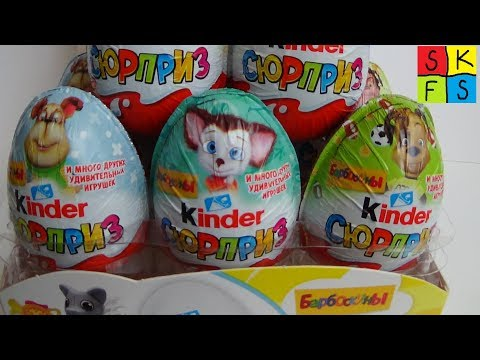БАРБОСКИНЫ серийки против сборки челлендж The Pooches, Unboxing Kinder Surprise Eggs