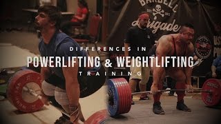 Differences in Powerlifting and Weightlifting Training | JTSstrength.com