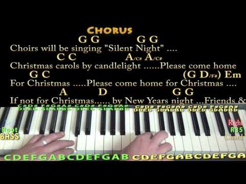 Please Come Home For Christmas (Eagles) Piano Cover Lesson in G with Chords/Lyrics