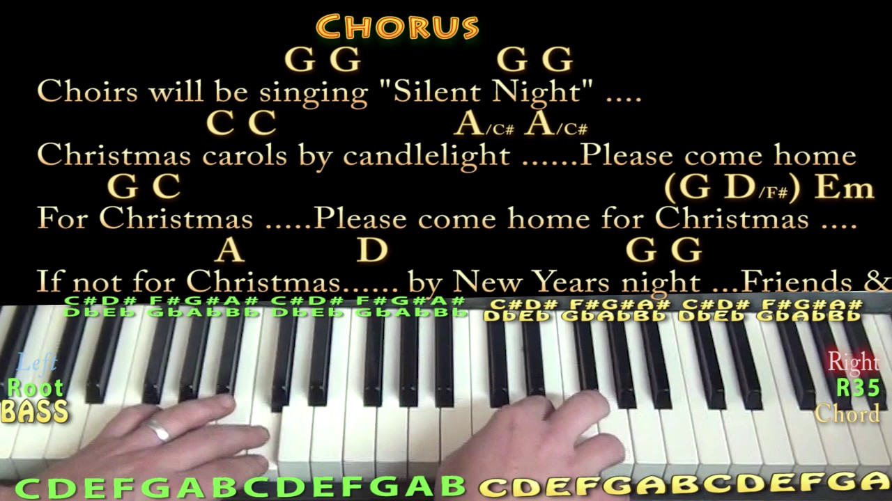 Please Come Home For Christmas (Eagles) Piano Cover Lesson in G ...