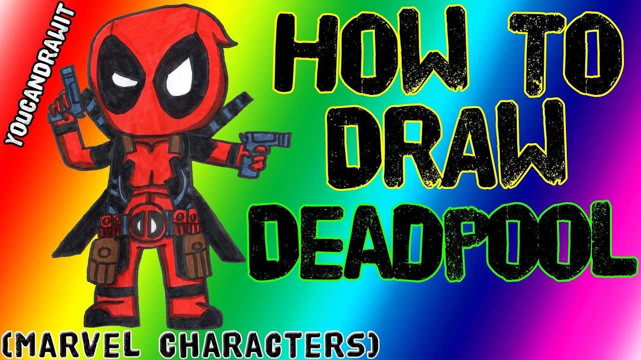De deadpool drawing pages - How To Draw Deadpool Marvel Characters Youcandrawit 1080p Hd Youtube