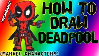 How To Draw Deadpool ✎ Marvel Characters ✎ YouCanDrawIt ツ 1080p HD