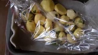 Картофель запеченный в рукаве/Potatoes baked in the sleeve