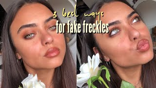 3 best ways for realistic fake freckles