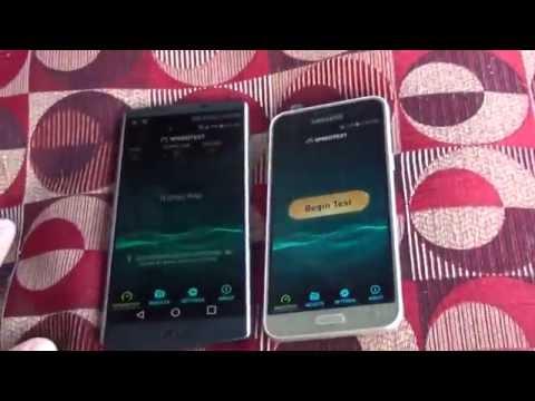VERIZON 4G LTE VS SPRINT 4GLTE SPEEDTEST 2016