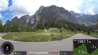 70 minute Indoor Cycle Training Workout Sella Ronda Grödnerjoch Italy Ultra HD Video