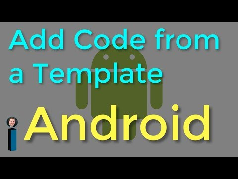 Add Code From A Template - Getting Started With Android Development