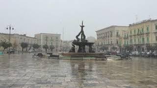 Leggera nevicata su Giovinazzo