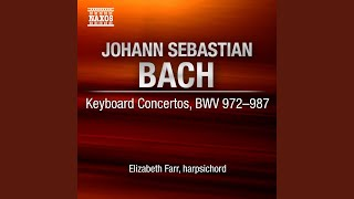 Keyboard Concerto in C Major, BWV 984 : II. Adagio e affettuoso