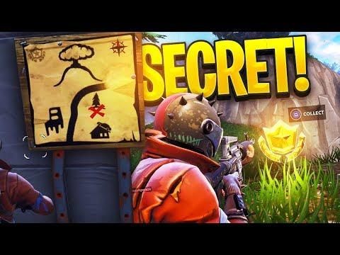 How To FIND *SECRET TREASURE* MAP CHALLENGE  Fortnite: Battle Royale