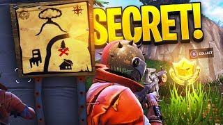 Como encontrar * SECRET TREASURE * mapa desafio-Fortnite: Battle Royale