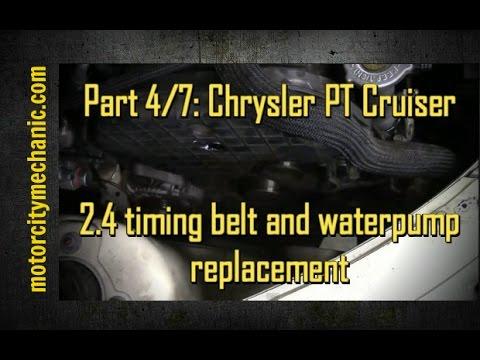 part 4 7 chrysler pt cruiser timing belt and waterpump. Black Bedroom Furniture Sets. Home Design Ideas