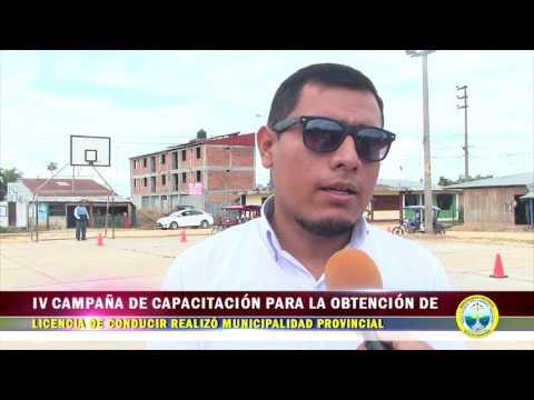 IV CAMPAÑA DE CAPACITACIÓN PARA LA OBTENCIÓN DE LICENCIA DE CONDUCIR REALIZÓ MPAA