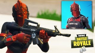 FORTNITE-I PLAYED with the NEW CAVALEIRA RUBRA!!! (RARE SKIN)