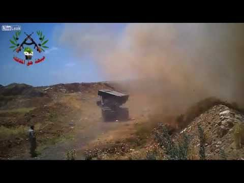 Syrian Rebels Fire MRLS