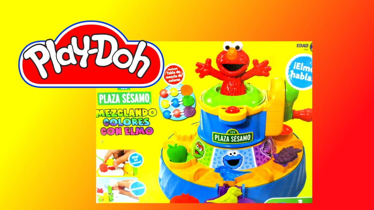 Play Doh Sesame Street Color Mixer Review - YouTube