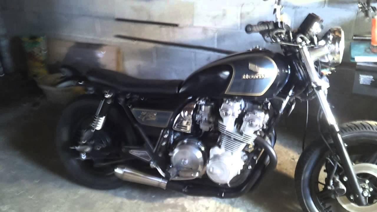 Honda Cb750 Cafe Racer >> 1981 cb750 custom with cyclex 4-2-1 race exhaust - YouTube