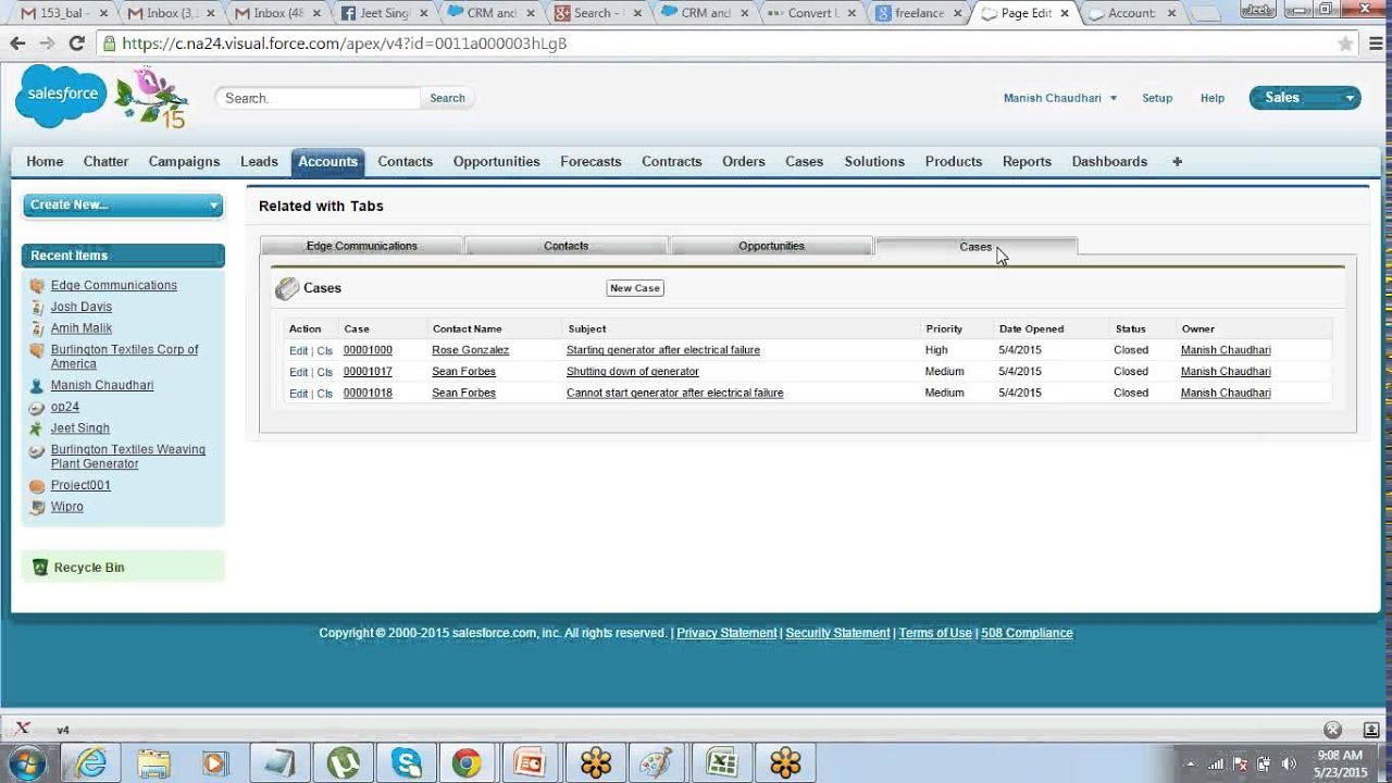 Visualforce Detail Related List Components Creating Tabs In