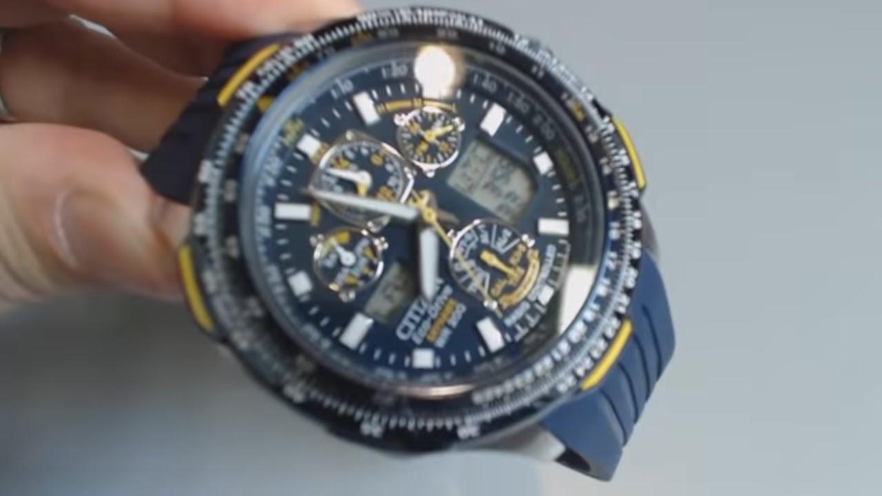 6b583b62b Citizen Blue Angels Skyhawk A.T Atomic Watch JY0064-00L - YouTube